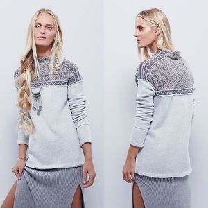 Free People Snow Bunny Gray Pullover Small